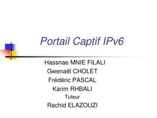 Portail Captif IPv6