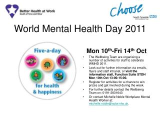 World Mental Health Day 2011
