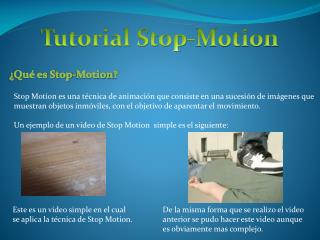 Tutorial Stop- Motion