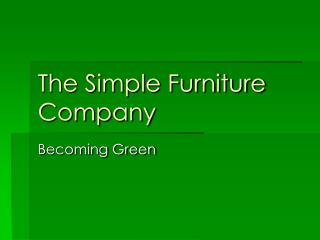 The Simple Furniture Company