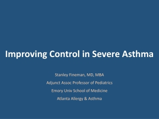 Strategies for Uncontrolled Asthma