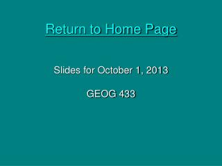 Return to Home Page