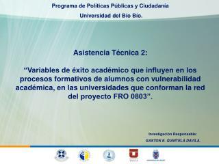 Asistencia T�cnica 2: