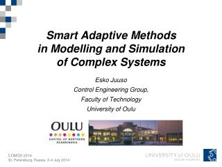 Smart Adaptive Methods  in Modelling and Simulation  of Complex Systems