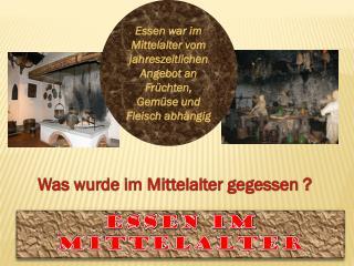 Essen im Mittelalter