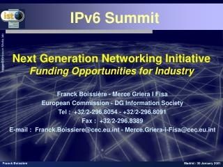 Next Generation Networking Initiative Funding Opportunities for Industry