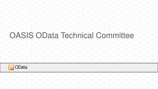 OASIS  OData  Technical Committee