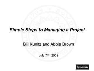 Simple Steps to Managing a Project