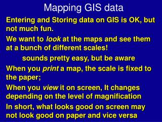 Mapping GIS data