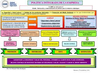 POLÍTICA INTEGRADA DE LA EMPRESA