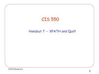 CIS 550