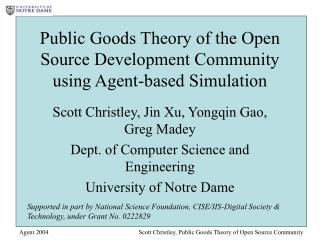 Public Goods Theory of the Open Source Development Community using Agent-based Simulation