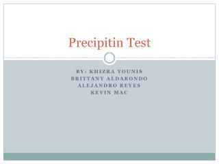 Precipitin Test
