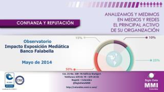Observatorio  Impacto Exposición Mediática Banco Falabella Mayo de  2014