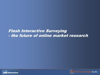 Flash Interactive Surveying  - the future of online market research