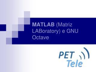 MATLAB  (Matriz LABoratory) e GNU Octave