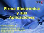 Firma Electr nica y sus Aplicaciones