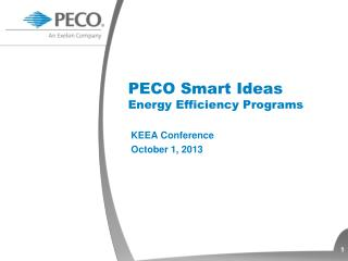 PECO Smart Ideas Energy Efficiency Programs