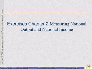 Exercises Chapter 2  Measuring National Output and National Income