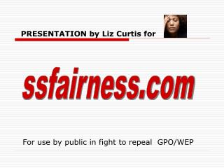 PRESENTATION by Liz Curtis for