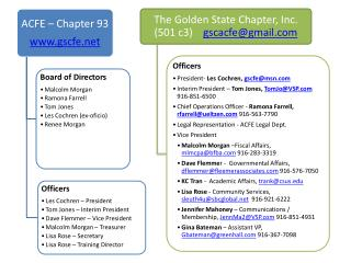 The Golden State Chapter, Inc.