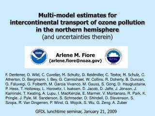 Multi-model estimates for  intercontinental transport of ozone pollution