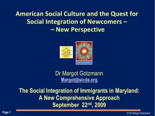 American Social Culture and the Quest for Social Integration of Newcomers –   – New Perspective