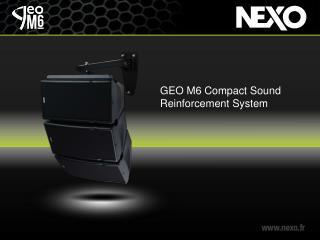 GEO M6 Compact Sound Reinforcement System