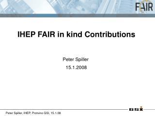Peter Spiller  15.1.2008