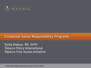 Corporate Social Responsibility Programs