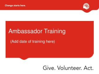 Ambassador Training