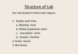 Structure of Lab