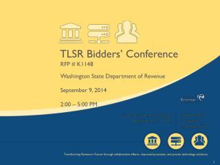 TLSR Bidders' Conference