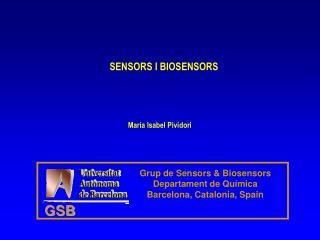 SENSORS I BIOSENSORS