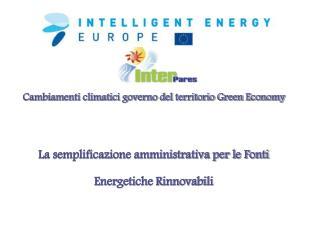 Cambiamenti climatici governo del territorio Green Economy