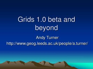 Grids 1.0 beta and beyond
