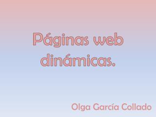 Páginas web dinámicas.