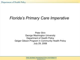 Florida's Primary Care Imperative