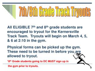 7th/8th Grade Track Tryouts