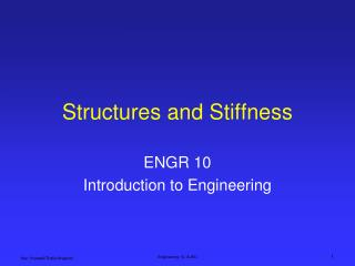 Structures and Stiffness
