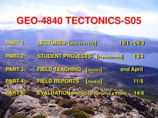 GEO-4840 TECTONICS-S05