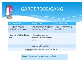GARDEROBE/GANG