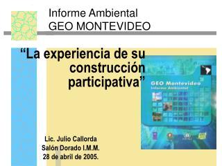 Informe Ambiental GEO MONTEVIDEO