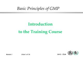 Introduction to the Training Course