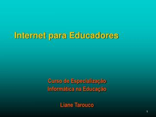 Internet para Educadores