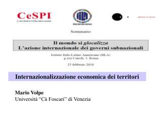 Internazionalizzazione economica dei territori