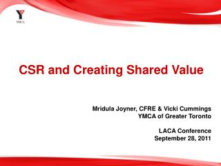 CSR and Creating Shared Value