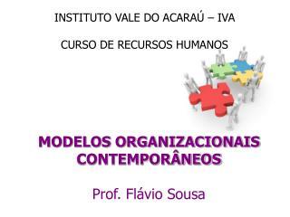 MODELOS ORGANIZACIONAIS CONTEMPORÂNEOS Prof. Flávio Sousa