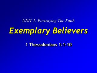 Exemplary Believers