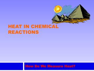 Heat in chemical reactions